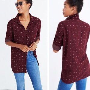 Madewell classic ex boyfriend shirt in ikat
